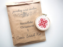 Snowflake Ornament Kit, Red