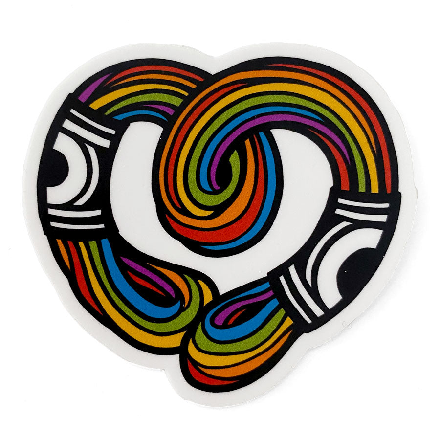 Rainbow Thread Sticker