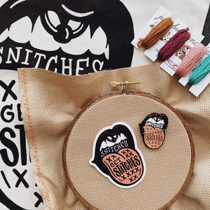 Snitches Get Stitches Needle Minder