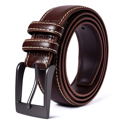 Mile High Life | Genuine Leather | Classic Dress Belt | Width 1 3/8"