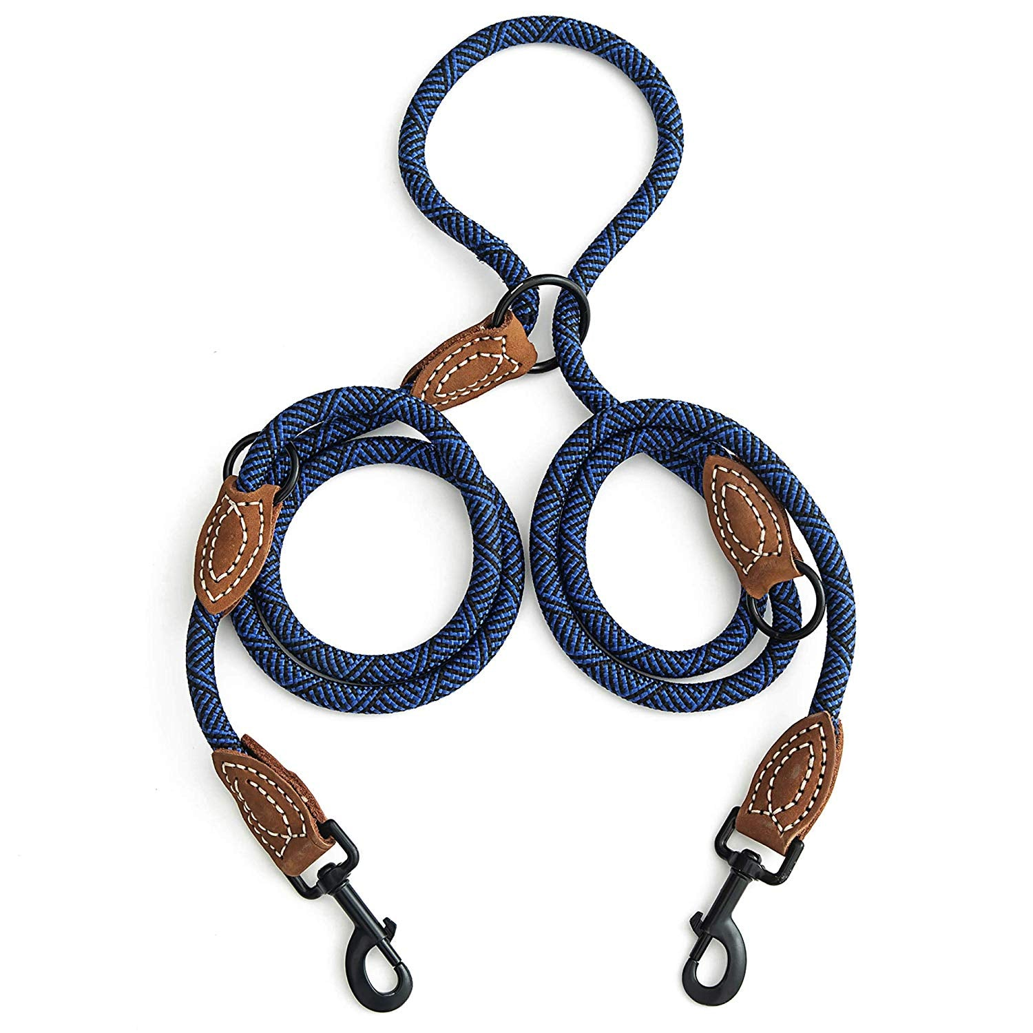 Whole Sale (Dozen) Double Dogs Leather Tailor Handle Mountain Climbing Dog Rope Leash