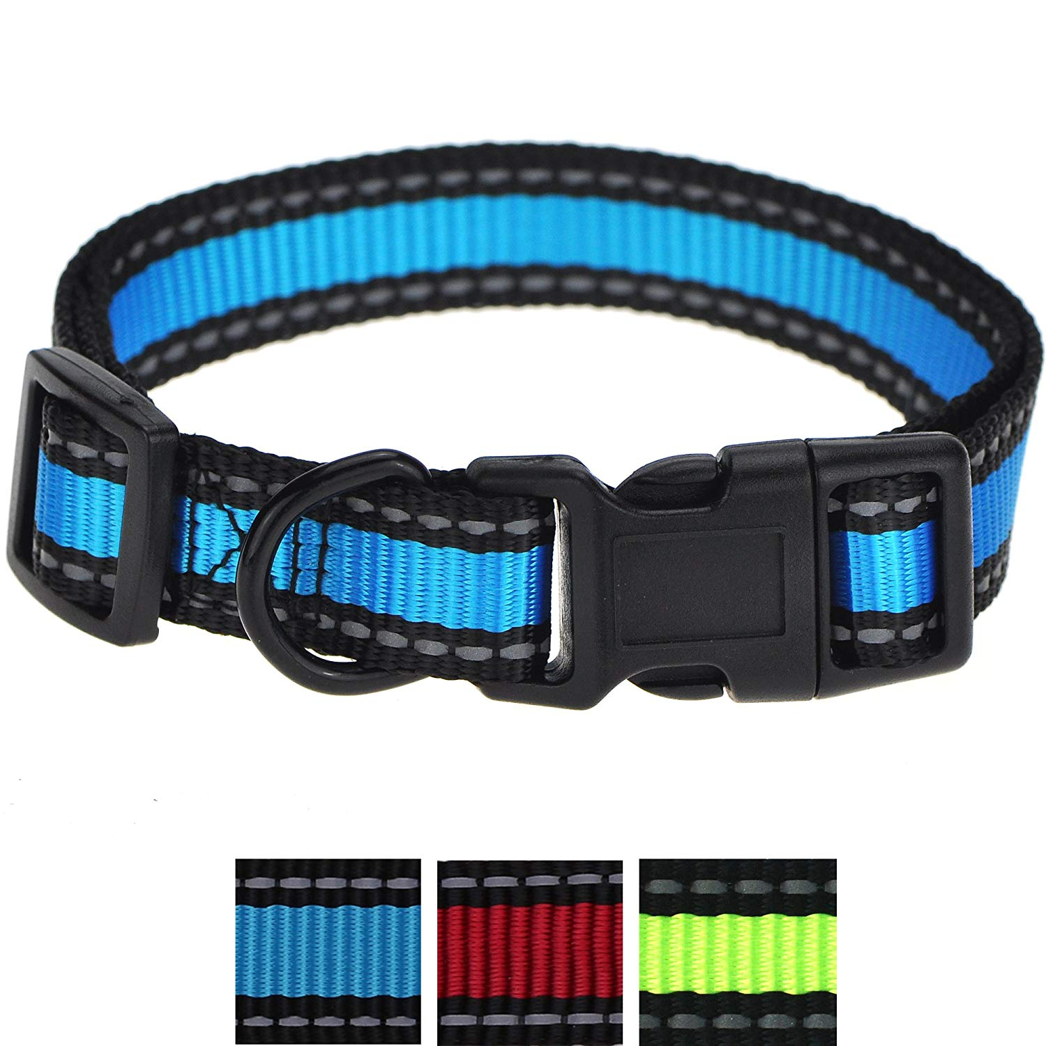 Whole Sale ( 2 Dozen ) Reflective Nylon Dog Collar