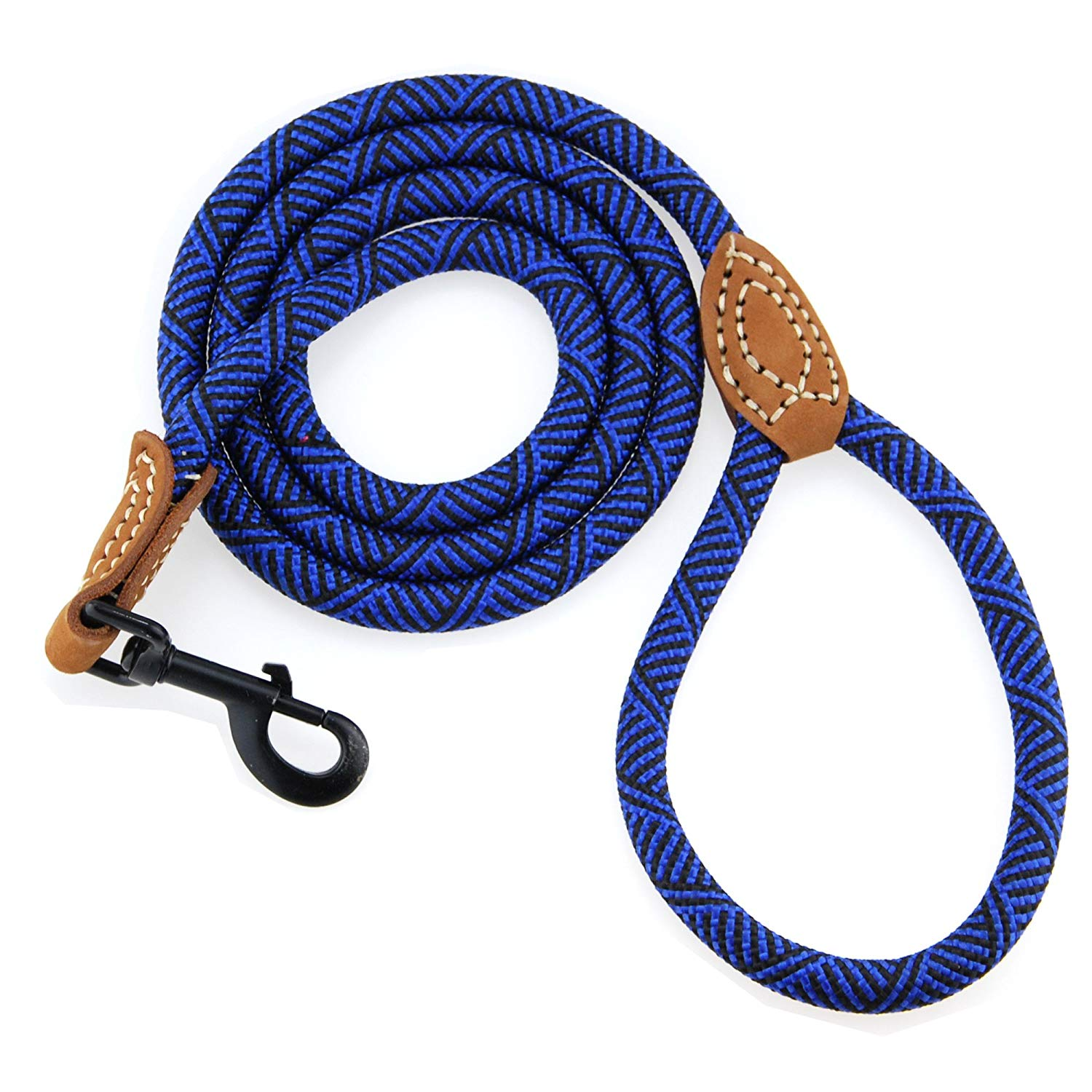 Whole Sale Dozen Dog Rope Leash with Metal Sturdy Clasp and Leather Top (Free Shipping)