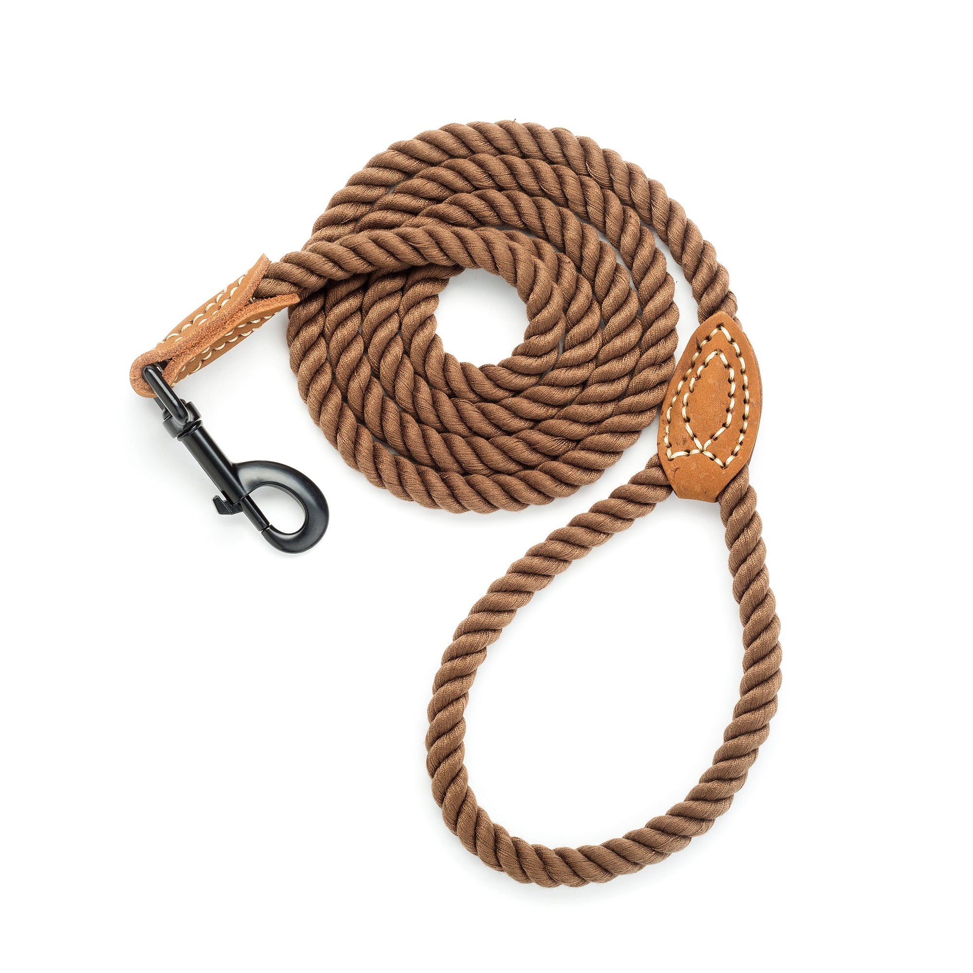 Whole Sale ( Bulk)  Braided Cotton Rope Leash with Leather Tip (Free Shipping Minimum Order Value: $350 )