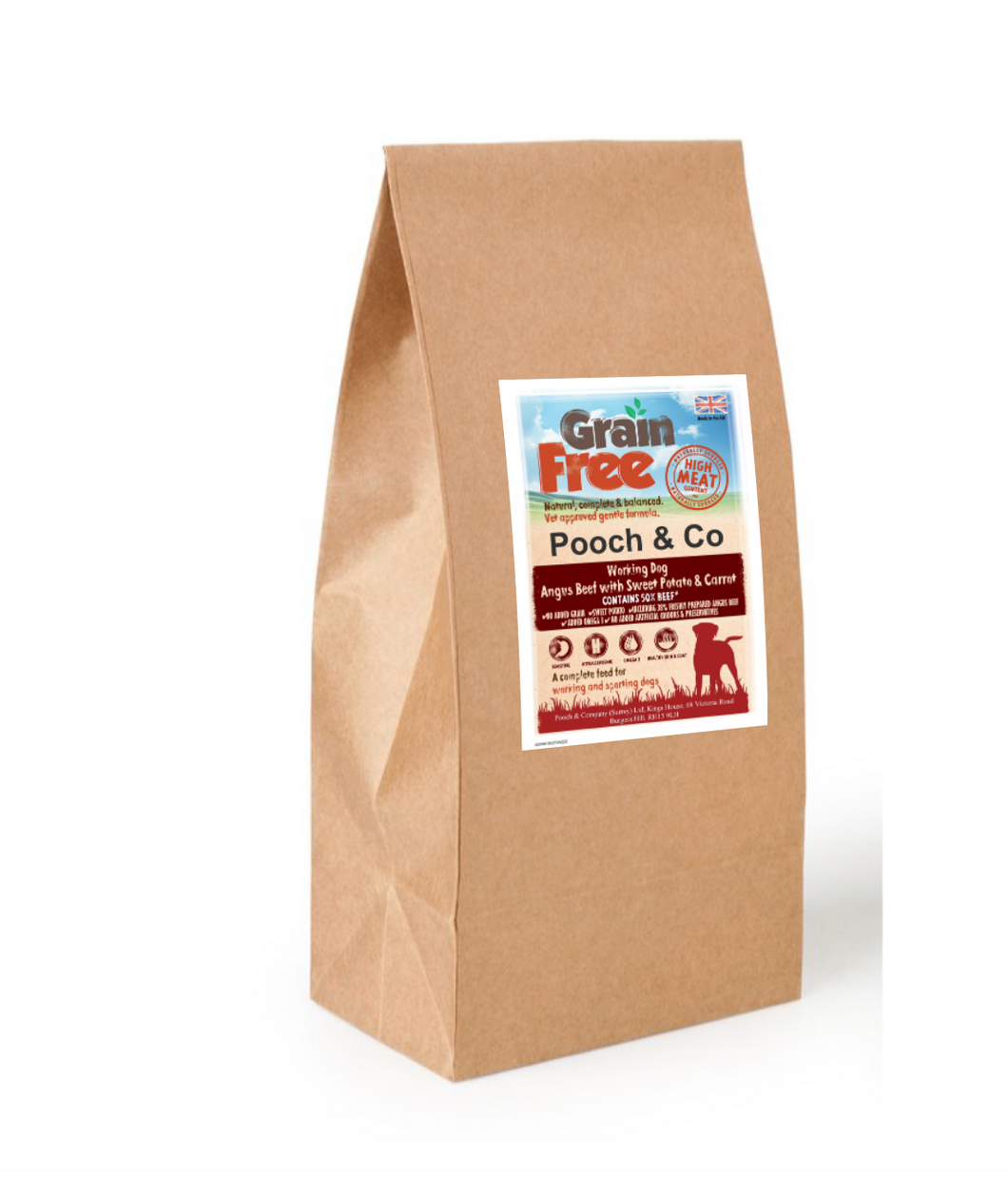 Grain Free Black Angus Beef  Strong and meaty, packed with nutritional goodness