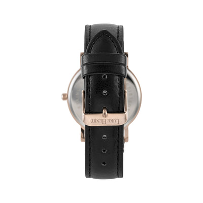 Luke Henry Unisex Rose Gold Ashbrooke 38MM with Black Dial
