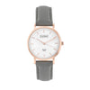 Luke Henry Unisex Rose Gold Ashbrooke 38MM Grey Strap