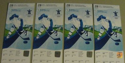 Men's Gold Hockey Ticket