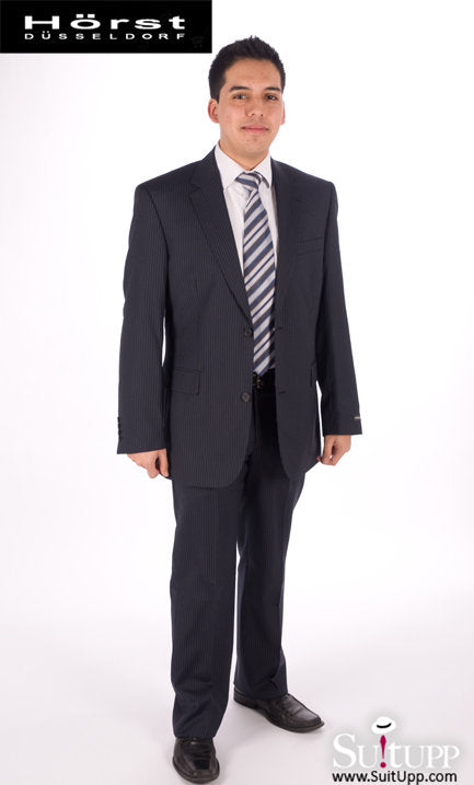 Horst Dusseldorf - Navy Pinstripe - Two Piece Suit