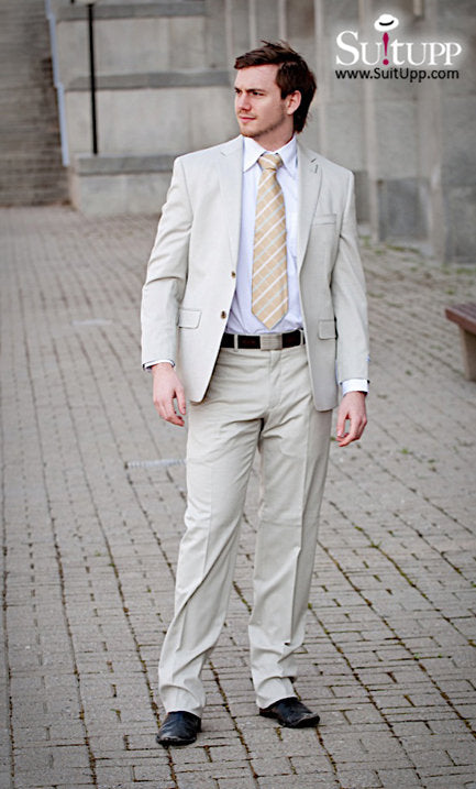 Calvin Klein - Beige - Two Piece Suit