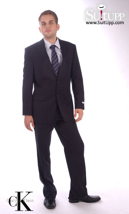 Calvin Klein - Navy Subtle Stripe - Two Piece Suit