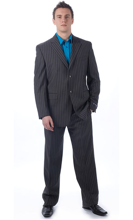 Sean John Charcoal Pinstripe 2-Piece Suit