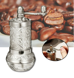 NEW Turkish Coffee Brass Hand Made Engraved Grinder Spice Pepper Mill