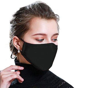 Cotton Black Washable Face Covering