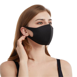 Outdoor cycling breathable washable dustproof cotton men and women black face mask