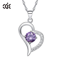 CDE Women Pendant Necklace 925 Sterling Silver Cubic Zirconia Infinity Necklace