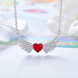 CDE 925 Sterling Silver Heart Necklace Embellished with crystals from Swarovski
