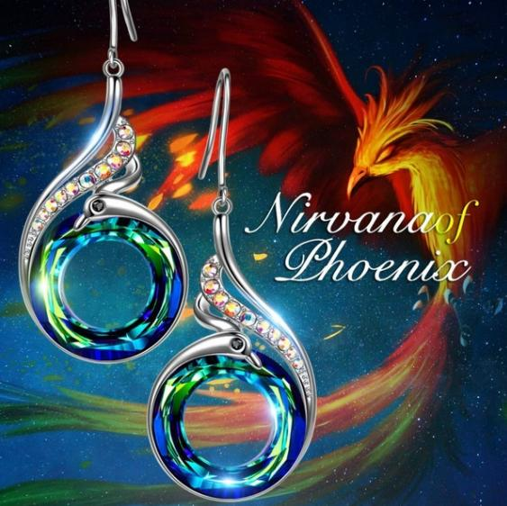 Nirvana of Phoenix Jewellery for Women Crystal Dangle Earrings
