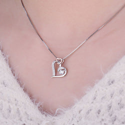 Infinity Women Necklace Forever Love Heart Pendant 925 Sterling Silver