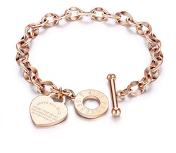 Toggle Chain & Link Bracelets Bangle