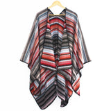Retro Style Tassel Poncho Shawl Cape Winter Shawl