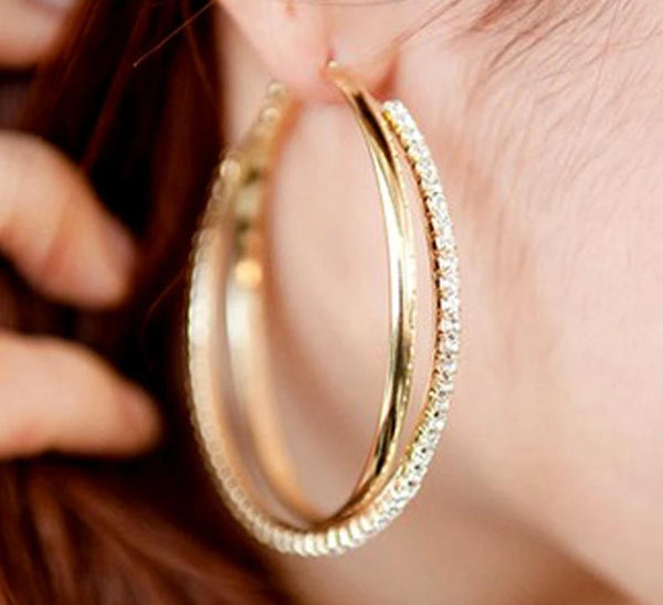 New Big Hoop Earring For Women Silver/Gold