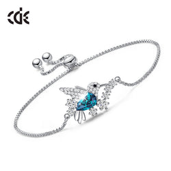 CDE Silver Bracelets with Crystals from Swarovski Humming Bird