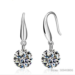 925 Silver Earring Crystal Earrings Twins Micro Set Jewellery