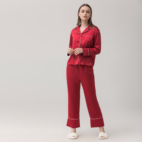 Double layer velvet pajamas set