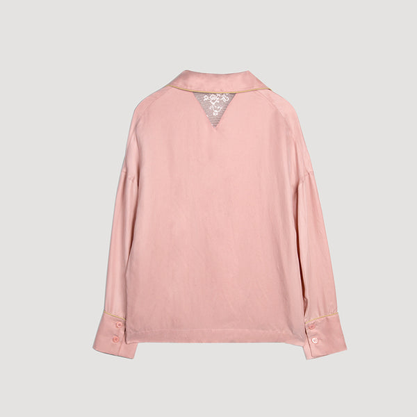 Female Cupro long-sleeved shirt