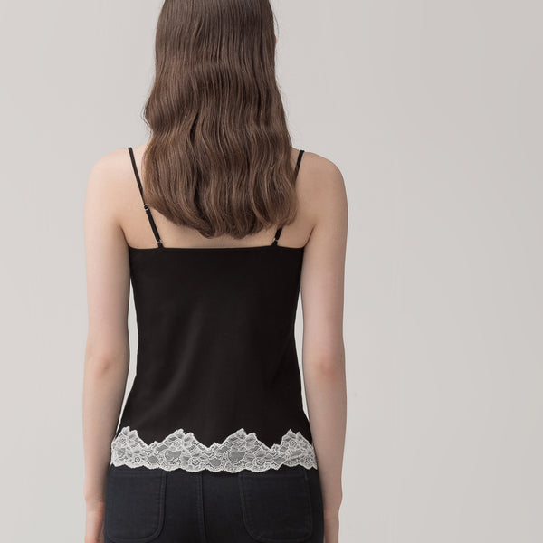 Knitted Lace Strapless Vest