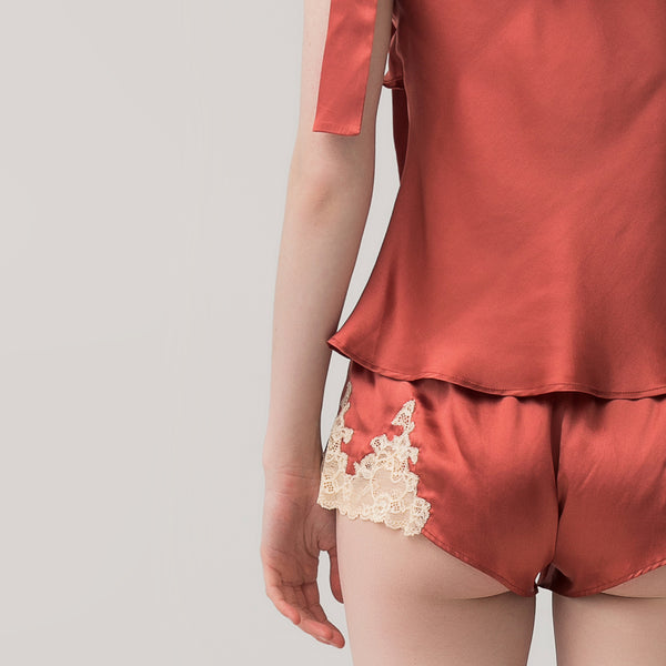 Female silk lace shorts