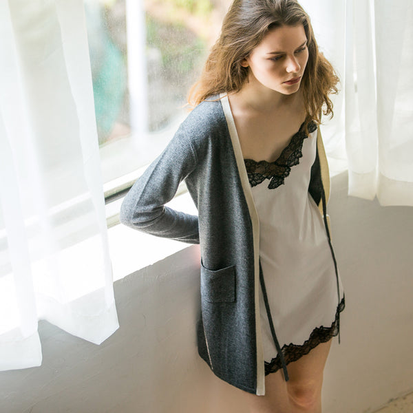 Female's wool knit cardigan
