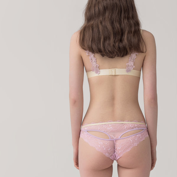Women's lace contrast color briefs