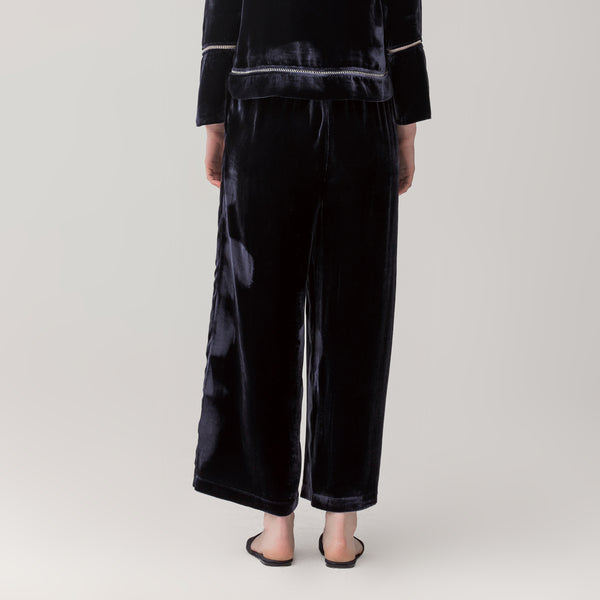 Female silk velvet trousers