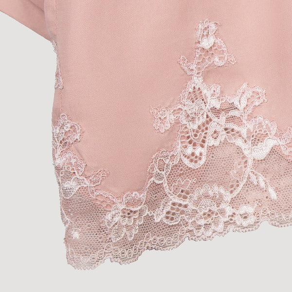 Female Cupro lace short sleeve