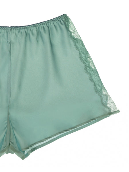 Lace + Satin Shorts