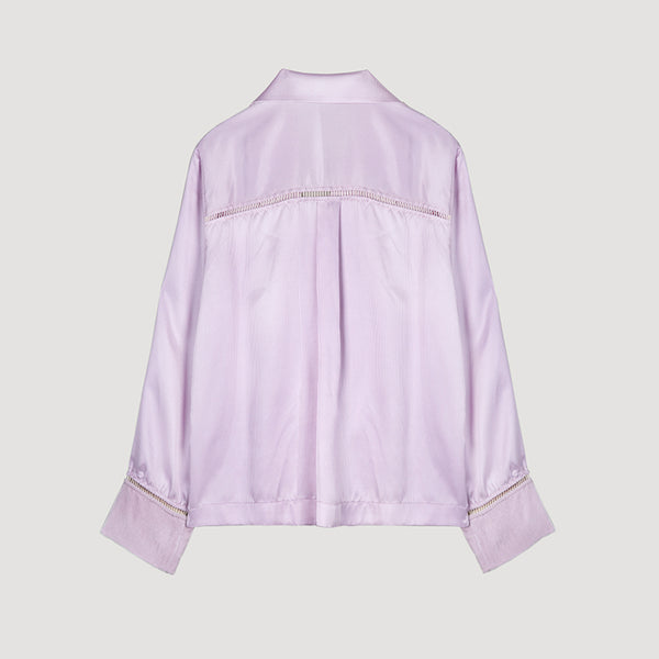 Female Silk long-sleeved shirt