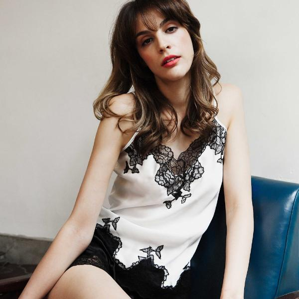 Silk & Lace Under Shirt