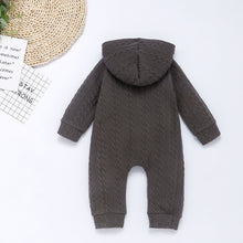 Load image into Gallery viewer, Charcoal  Knit Sweater Romper