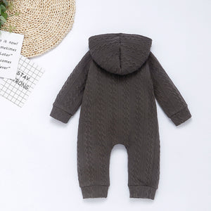 Charcoal  Knit Sweater Romper