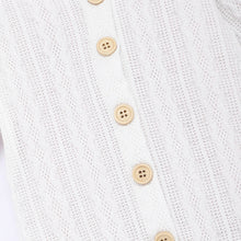 Load image into Gallery viewer, White Knit Sweater Romper