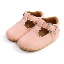 Load image into Gallery viewer, Blush Mary Jane Baby Shoes
