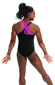Simone Biles Collection Velvet Leopard Leotard