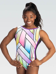 GK Simone Biles Stained Glass