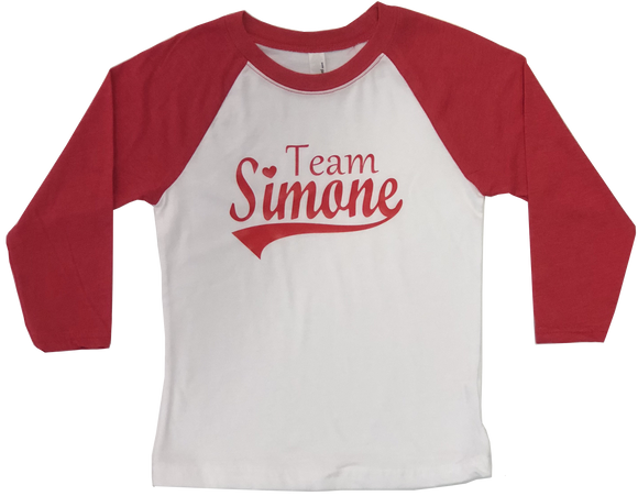 Team Simone Youth Baseball Tee