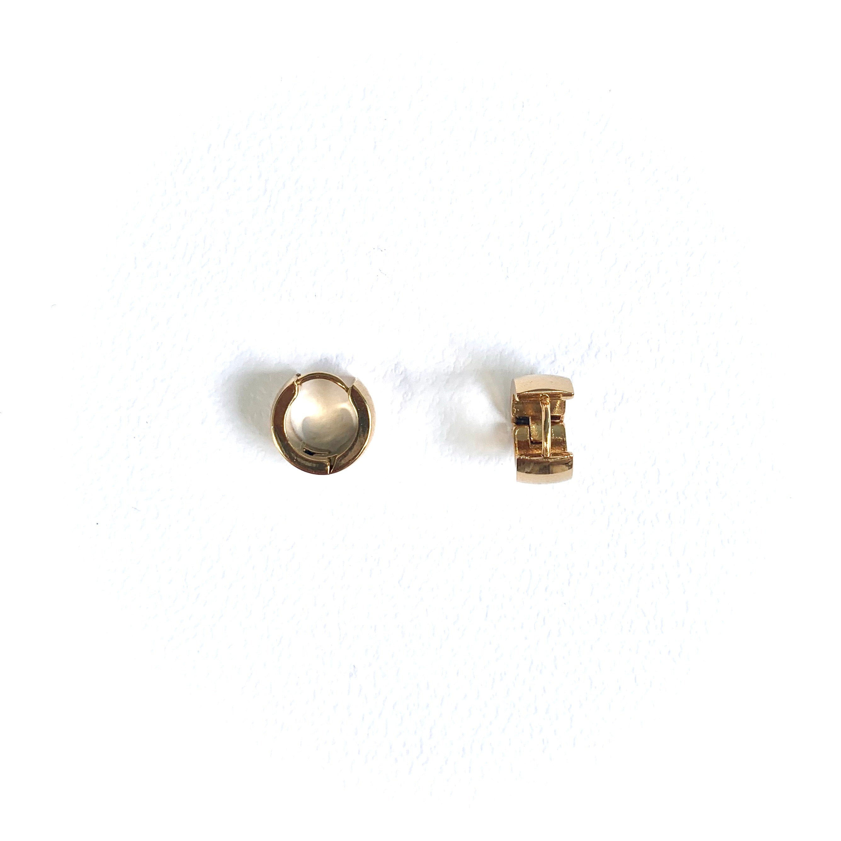A R Chunky Huggies Earrings 12mm