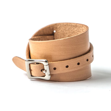 Flatiron Leather Cuff in Natural