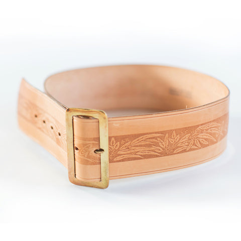 W19 Scolloped Leather Belt