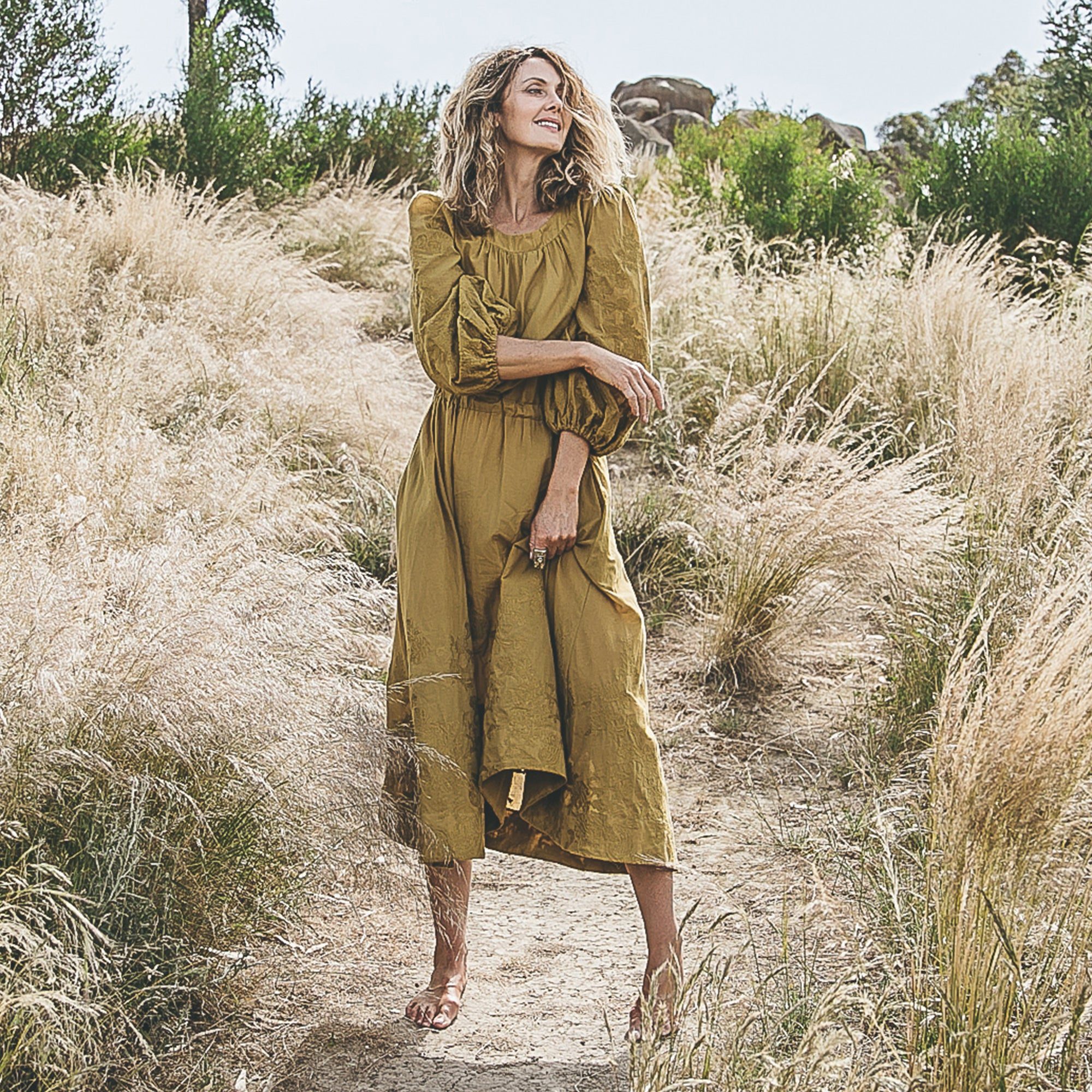 Tea Tree Dress – Olive